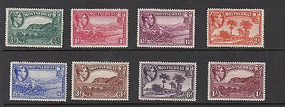 MONTSERRAT GEORGE V1 STAMPS UNUSED VALUES TO 1/-   .Rfno.530.
