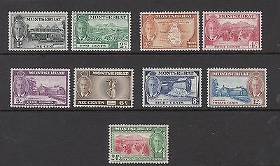 MONTSERRAT GEORGE V1 STAMPS UNUSED VALUES TO 24 CENTS  .Rfno.531.
