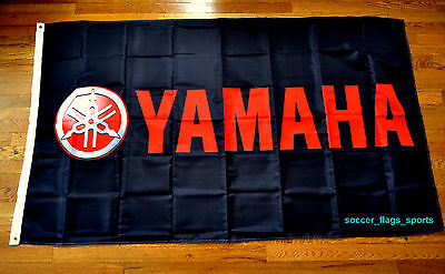YAMAHA Flag motorcycle black  car racing flag banner flags 3x5FT free shipping