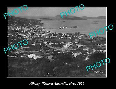 OLD LARGE HISTORIC PHOTO OF ALBANY WESTERN AUSTRALIA, VIEW OF TOWNSHIP c1920