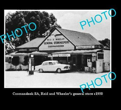 OLD LARGE HISTORICAL PHOTO OF COOMANDOOK S.A, WHEELERS GENERAL STORE c1950