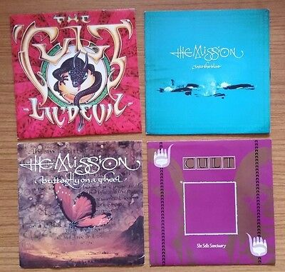 "The Mission/ The Cult Mixed 7"" Vinyl Bundle"