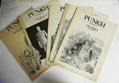Punch Cartoon History of Modern Britain ~ 1987 Complete 5 Issues Victoria Edward