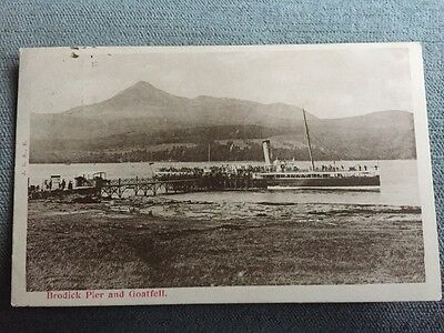 Isle Of Arran Brodick Pier And Goatfell Steam Ship Ferry 1903