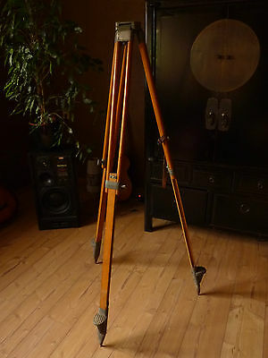 Original Holz Stativ Theodolite Carl Zeiss Spektiv Scope Asiola Telementor