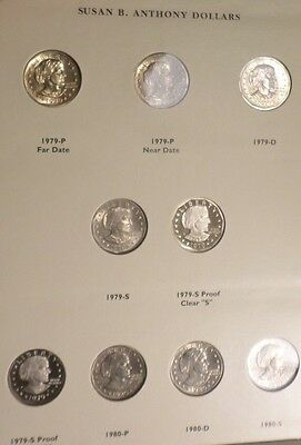 Complete Susan B Anthony Dollar Set -18 Coins All Unc and Proof -Toned 1981-S T2