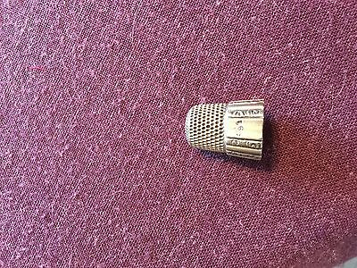Vintage Sterling Silver Thimble Engraved AT?