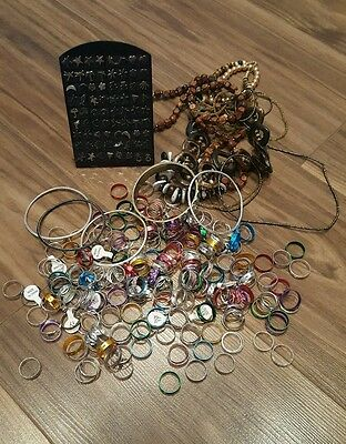 over 250 jewelery items. rings. earrings. bracelets. necklaces