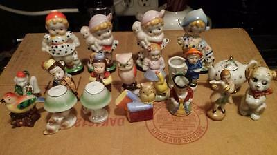 18 pieces MADE IN OCCUPIED JAPAN, SOME UP TO 4 INCHES TALL CHILDREN, MONKEYS OWL