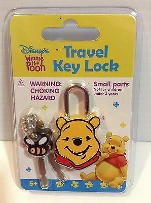 Disney's Winnie The Pooh Travel Luggage Bag Lock & Keys Brand New Sealed