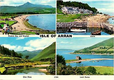 Isle of Arran - Scotland - Multiview - Charles Skilton Postcard 1974
