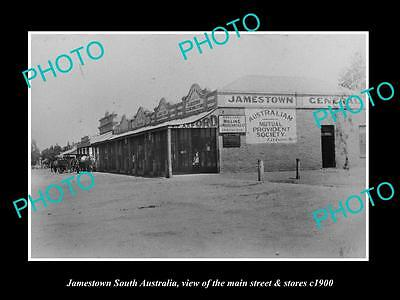 OLD LARGE HISTORIC PHOTO OF JAMESTOWN SOUTH AUSTRALIA, MAIN St & STORES c1900 1