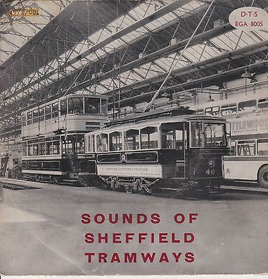 """Sounds of Sheffield Tramways. 45 rpm 7"""" EP Record EGA 8005"""