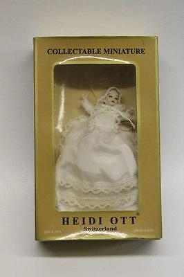 Heidi Ott Dolls House Baby Doll 1/12 Scale Collectables Boxed D8