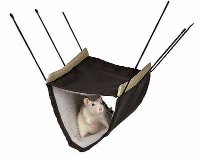 New - Trixie Pet Rat 2 Storey Hanging Hammock Cage Bed Green Or Brown 62696