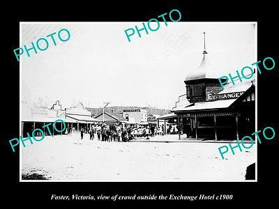 OLD LARGE HISTORIC PHOTO OF FOSTER VICTORIA, THE MAIN STREET & HOTEL c1900