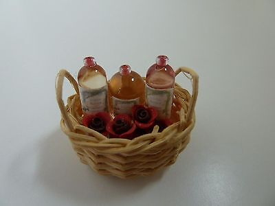 Dolls House Miniature 1:12 Scale Handcrafted Bathroom Shop Basket of Toiletries