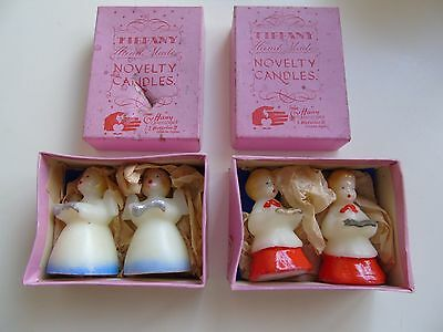 2 Delightful Boxes of 1950's Hand Made Novelty Christmas Candles