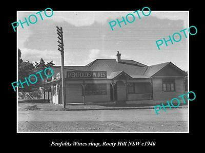 OLD LARGE HISTORIC PHOTO OF THE PENFOLDS WINES SHOP, ROOTY HILL NSW c1940