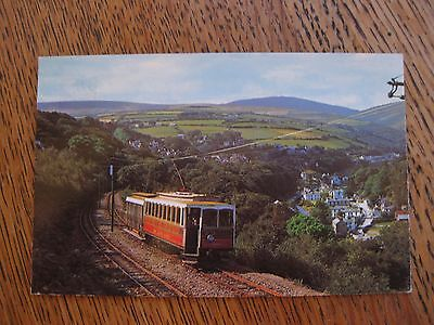 Manx Electric Railway Laxey Snaefell Isle of Man Postcard vintage