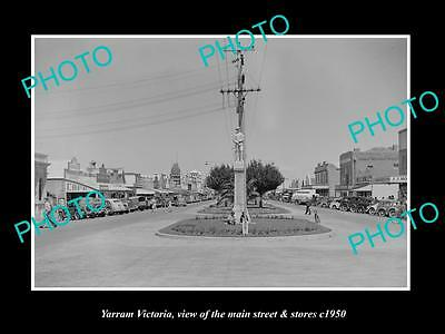 OLD LARGE HISTORIC PHOTO OF YARRAM VICTORIA, THE MAIN St & STORES c1920