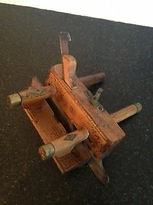 Marshall Of Glasgow Vintage Wooden Plough Plane