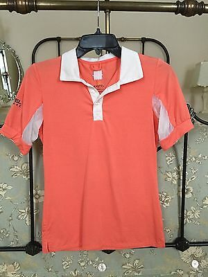 Kastel Denmark Charlotte S/S Polo Coral Sun Protection Equestrian Riding Small