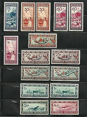 Indonesian stamps, Vienna issue, 15 pcs, 1949,