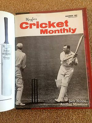 Complete Playfair Cricket Monthly's For 1962 In Binder