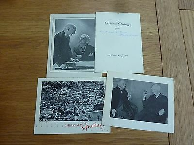 1950s 4 X ORIGINAL PHOTO XMAS CARDS FROM LORD AND LADY BEVERIDGE