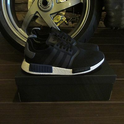 ADIDAS NMD R1--New in original box--Size US Men's 12--Black w/blue