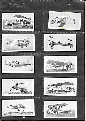 R & J Hill - Aviation Series - 1934 -  Very Good Full Set In Sleeves