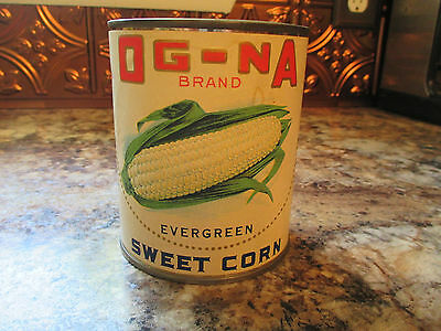 """Cantique"" Authentic Antique Labels on New Tin Cans Og Na Sweet Corn"