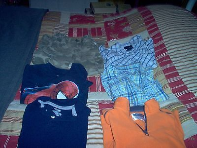 Lot of 6 Boys Clothes 2 SS Shirts Pair Pants & 3 LS Shirts size 4/5 & 5
