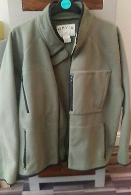 orvis fly fishing wading fleece jacket XL
