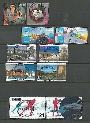 NORWAY, Collection Stamps, Lot 2016 used