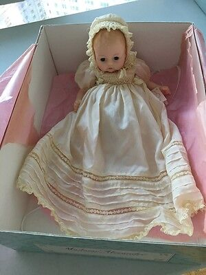 """Authentic MADAME ALEXANDER Antique Christening Huggums Baby Doll With Box 17"""""""