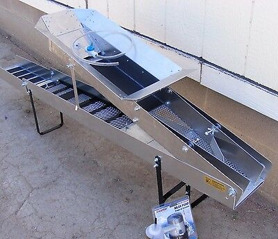 Gold Buzzard High Banker 6 Inch-Sluice- With Tom Tom / Washer Hose - 8.5 Ft Long