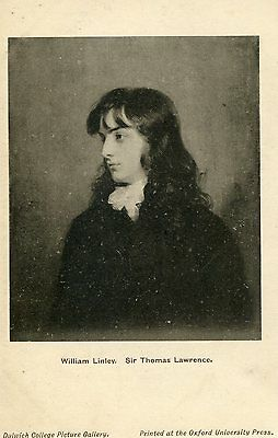 Postcard  of William Linley (by Sir Thomas Lawrence)