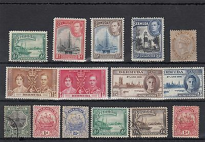 Bermuda. 15--  Qv/g6 Mounted Mint / Used Stamps On S/card