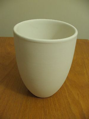 Ceramic Bisque Ready to Paint SMALL CONE VASE