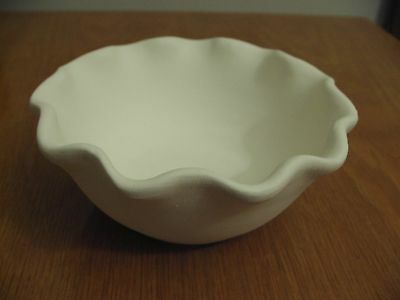 Ceramic Bisque Ready to Paint  FLUTED CEREAL BOWL