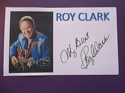 """""""Hee Haw"""" Roy Clark Autographed 3x5 Index Card"""