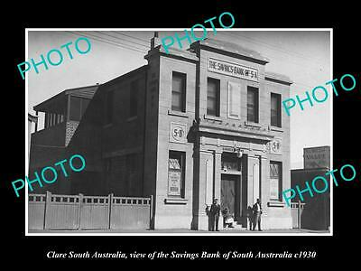 OLD LARGE HISTORIC PHOTO OF CLARE SOUTH AUSTRALIA, THE SAVINGS BANK c1930