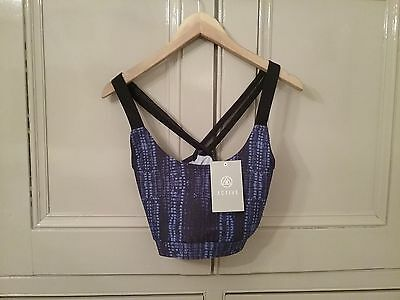 Bnwt Missguided Active Gym Crop Top Size 12  Navy Croc