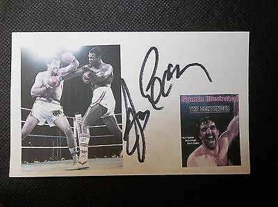 """Boxing """"Great White Hope"""" Gerry Cooney Autographed 3x5 Index Card"""