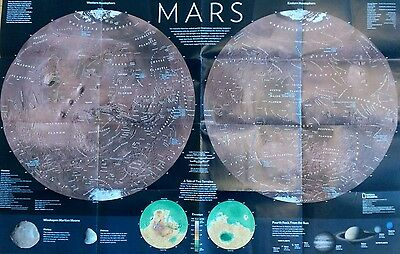 Map of Mars - Colonizing Mars - Double Sided Poster.