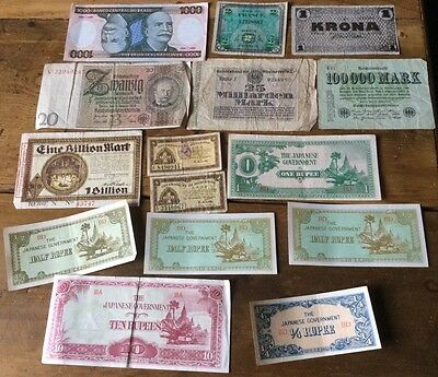 Good collection of vintage bank notes - mostly mid 20th Century