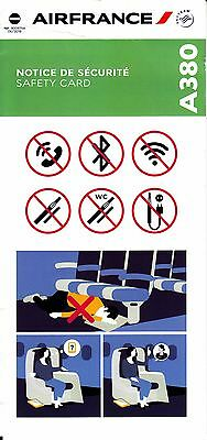 *** Safety Card - Air France A380 - 06/2016 - NEW ISSUE!!! ***