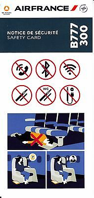 *** Safety Card - Air France B777-300 - 06/2016 - NEW ISSUE!!! ***